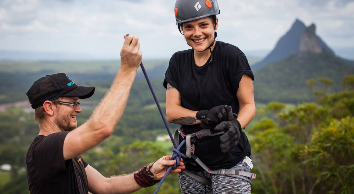 Abseil the Glasshouse Mountains - Full Day