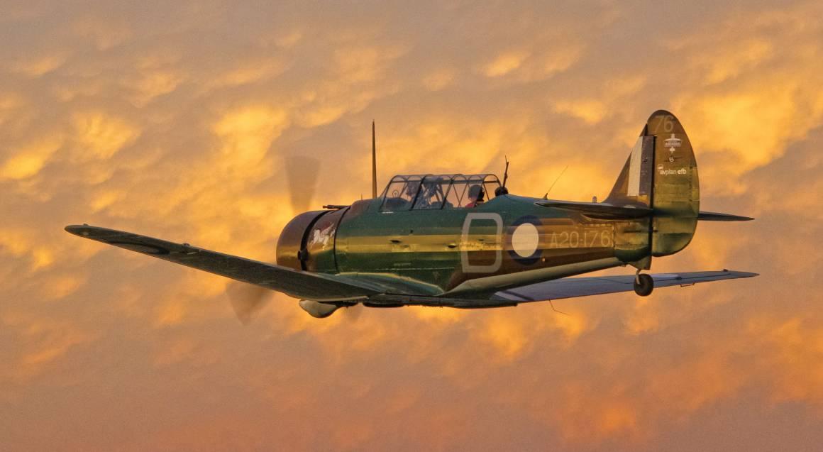 CAC Wirraway biplane WWII Warbird