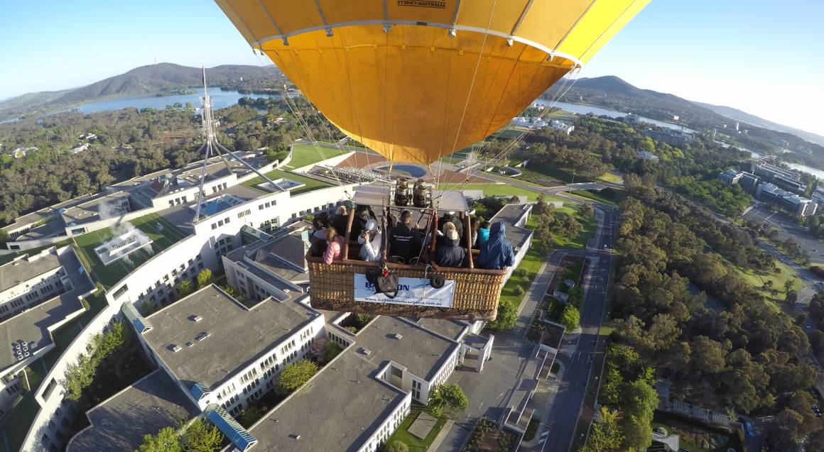 Hot Air Ballooning Over Canberra - Midweek