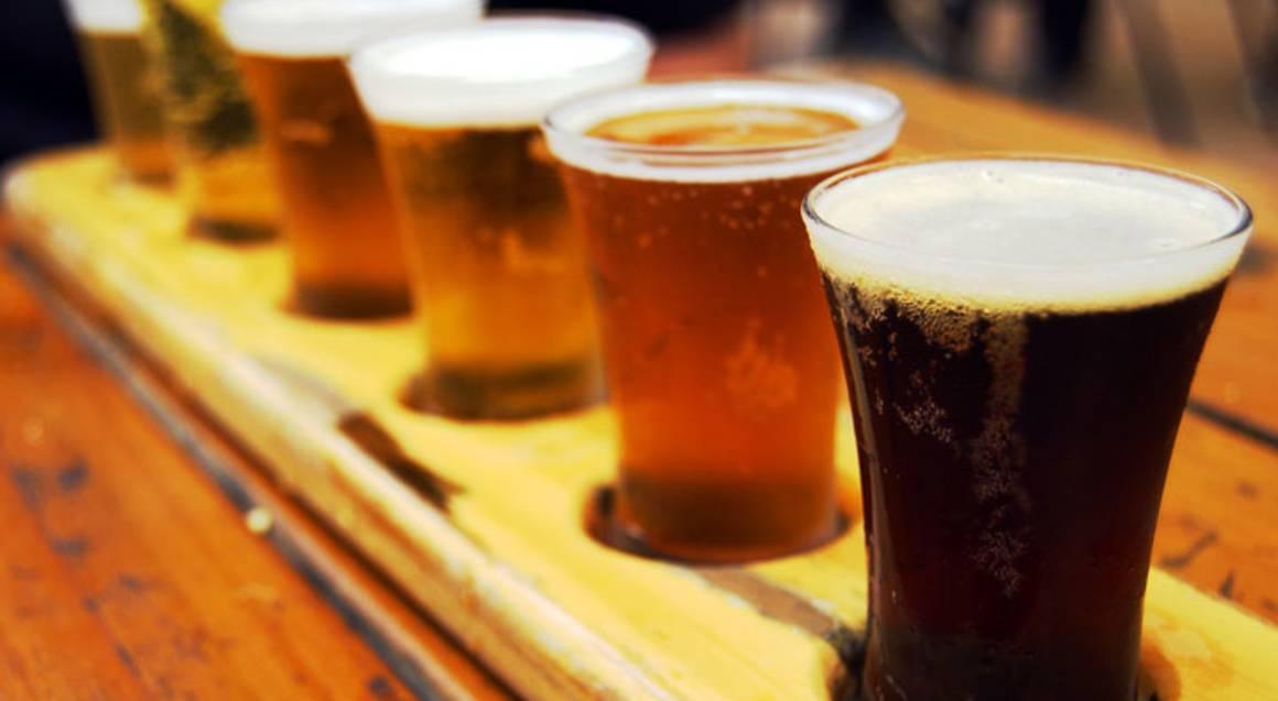 Carlton Brewhouse Victoria beer tasting paddle