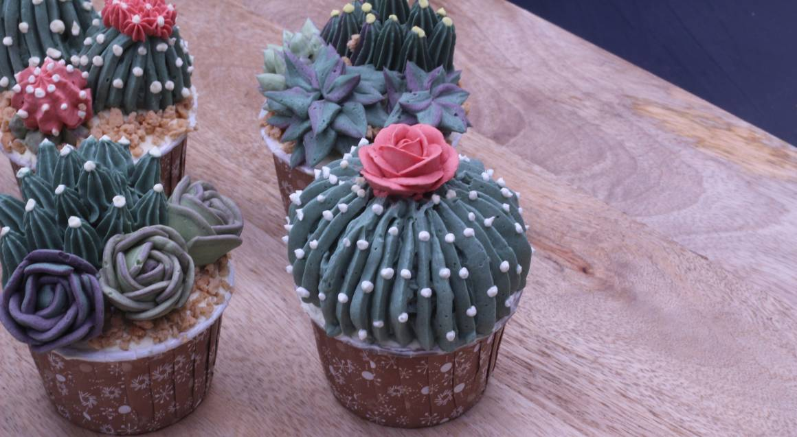 Buttercream Succulent Piping Art Class - 3 Hours