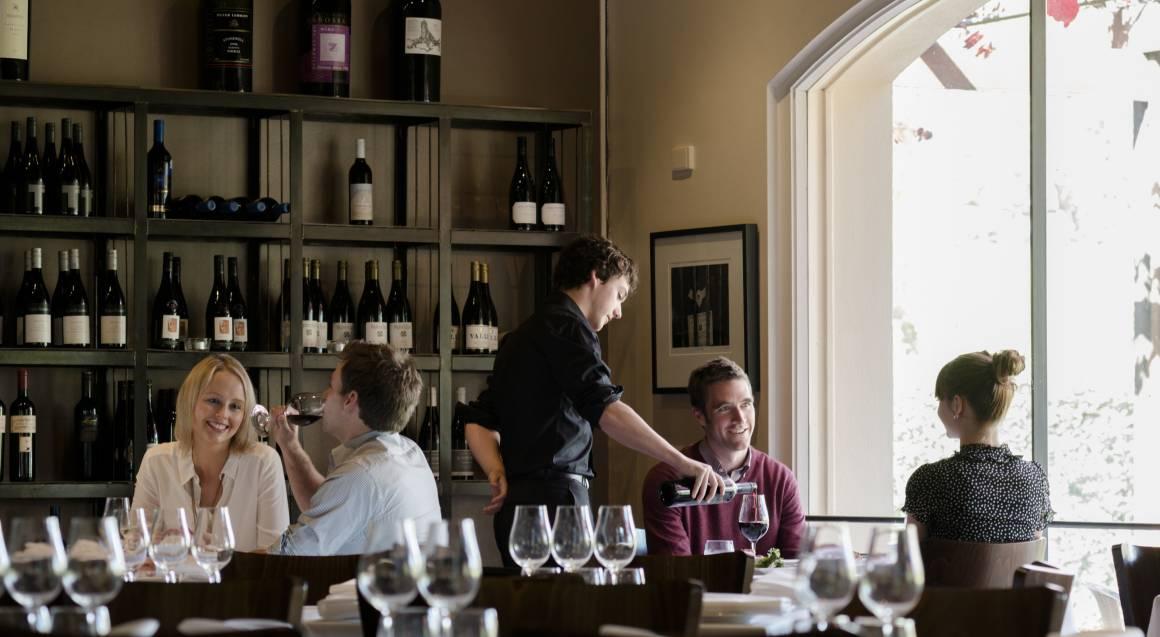 Barossa Valley Daimler Tours Vintners couple tasting wine