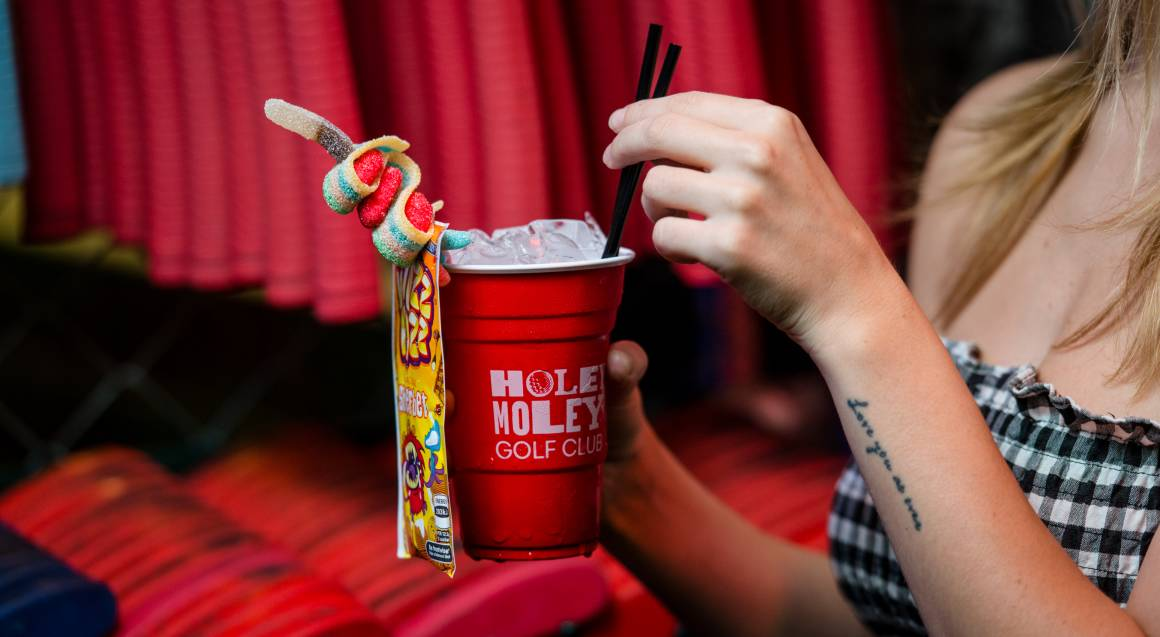 Holey Moley Mini Golf with Cocktails and Pizza - For 2