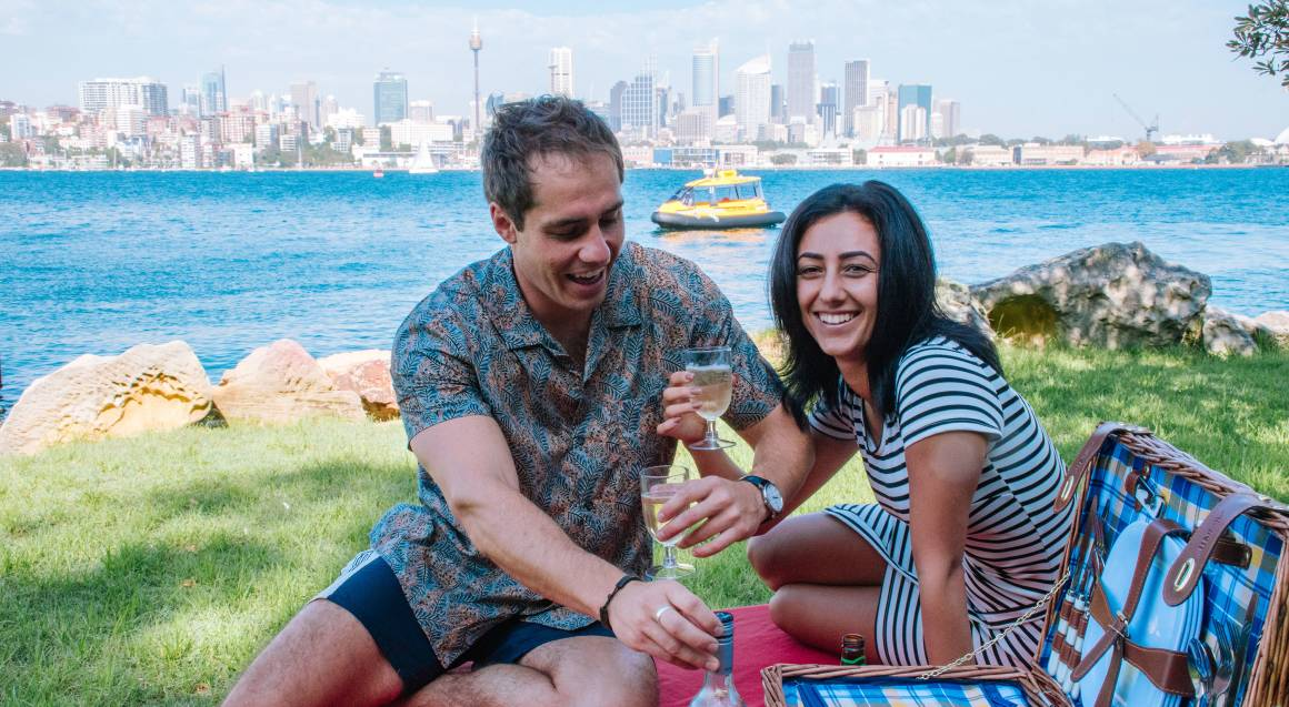 Water Taxi Picnic on Sydney Harbour with Wine - 2.5 Hours
