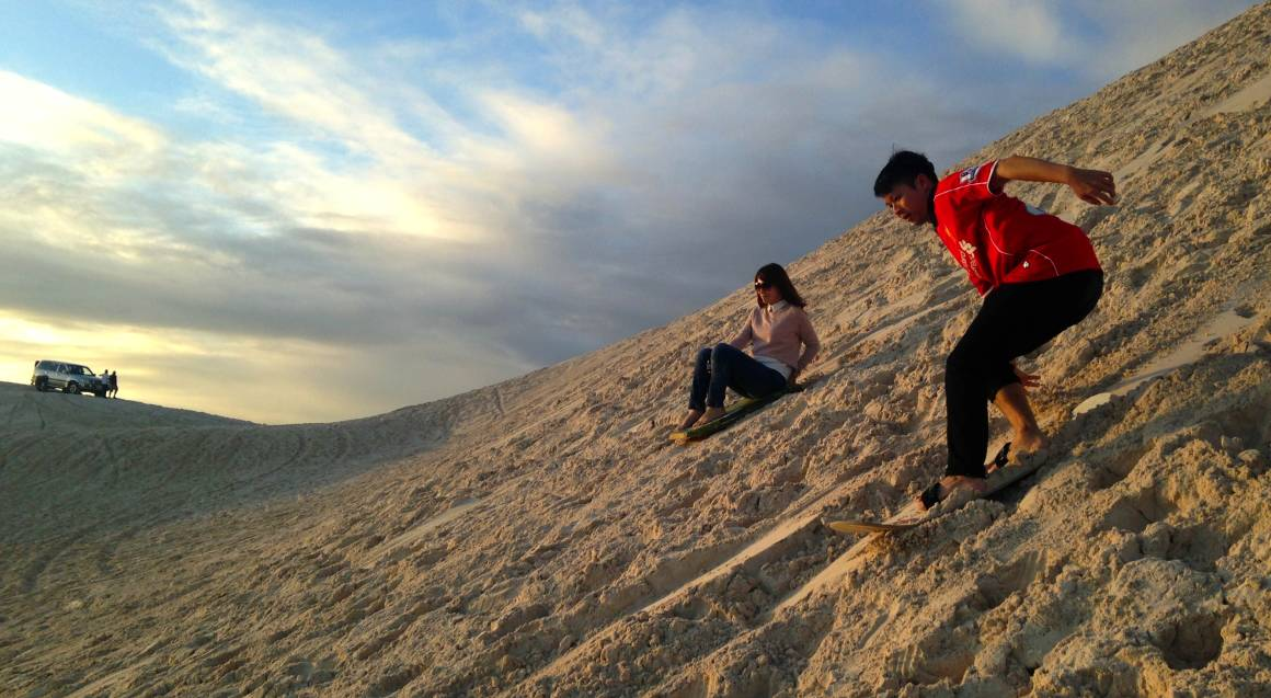 National Park Tour with Lobster Shack Lunch and Sandboarding