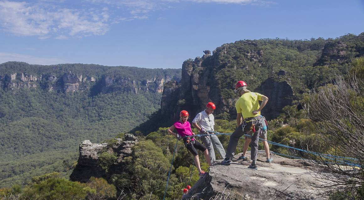 Abseiling and Lunch in the Blue Mountains