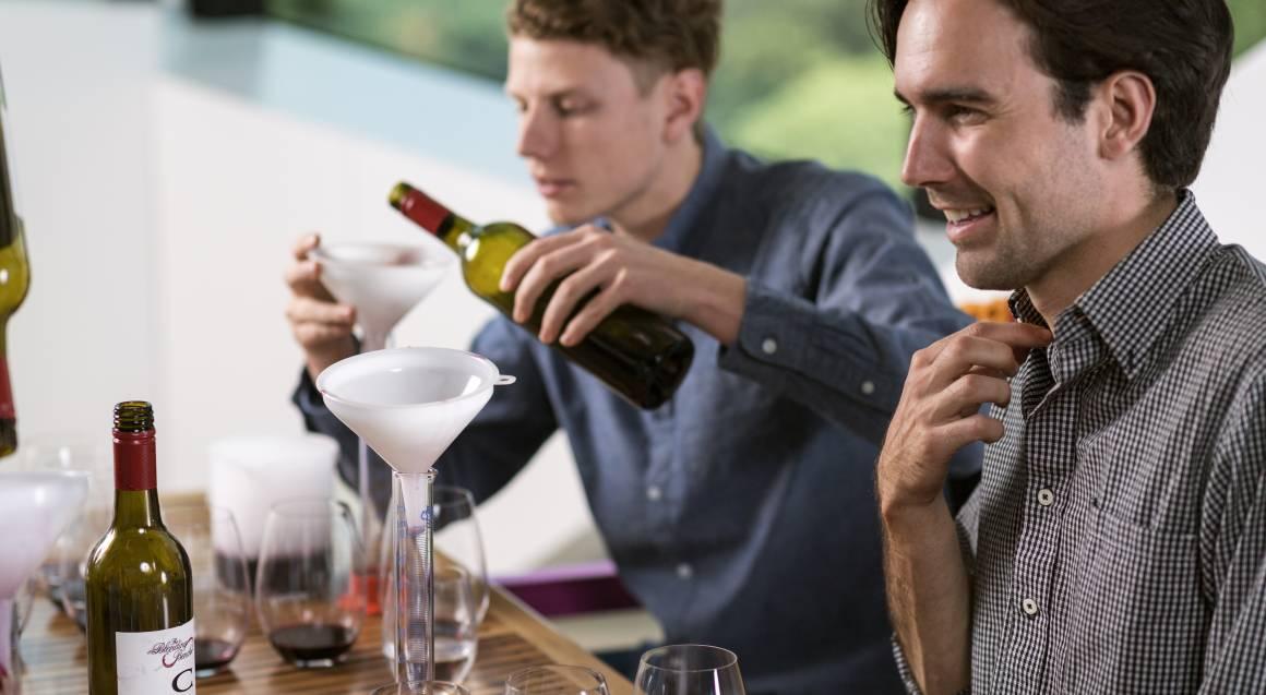 two men blending wine at d'arenberg