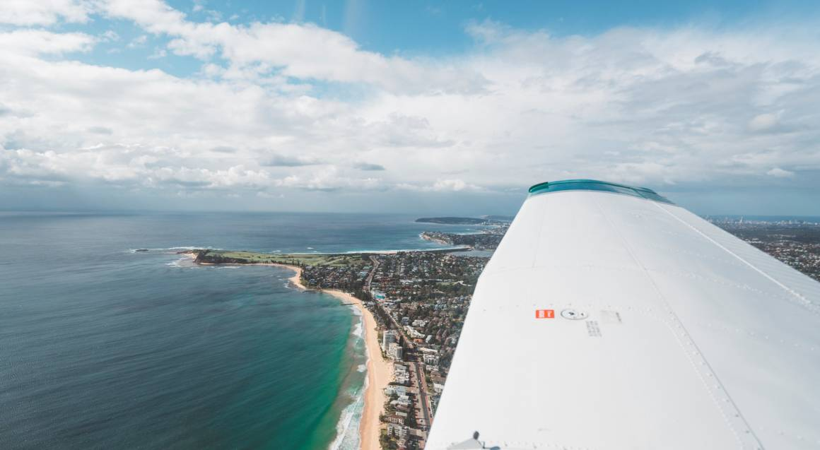 Light Aircraft Sydney Harbour Training Flight