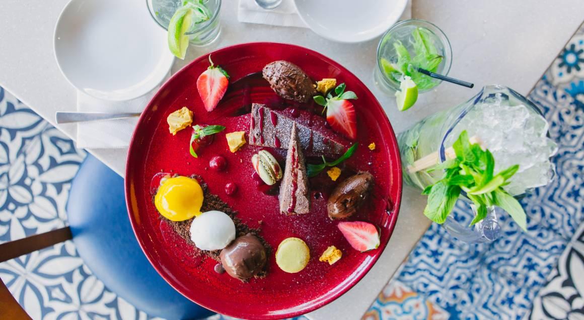 progressive three course meal chocolate indulgence platter