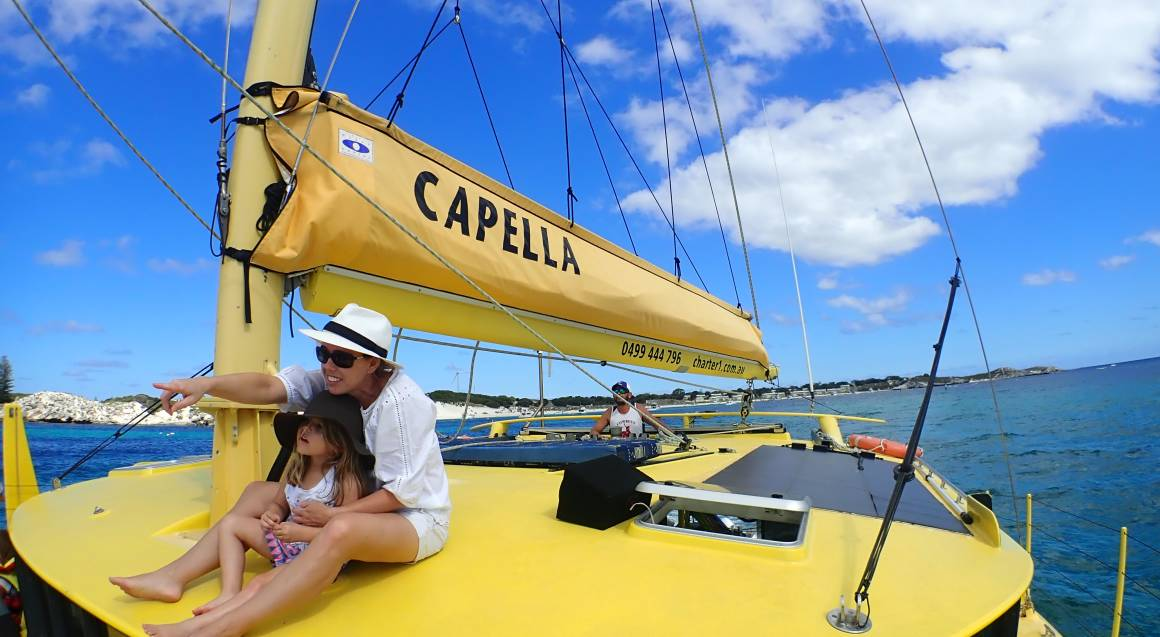 Sailing Catamaran to Carnac Island - Half Day