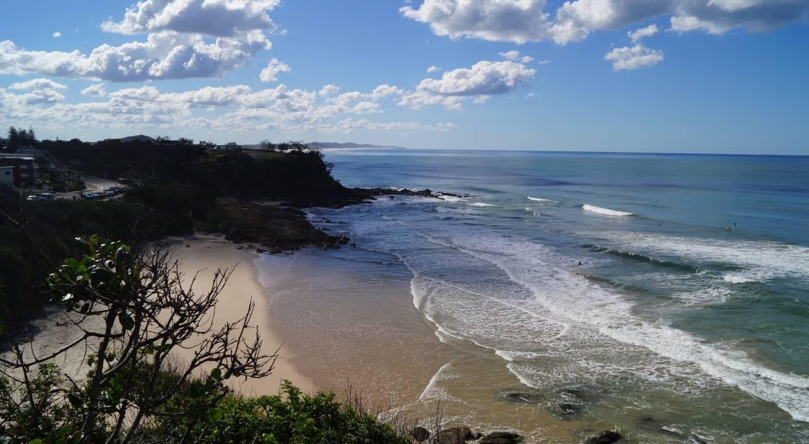 Sunshine Coast Motorcycle Cruise Hire surf beach aerial view queensland