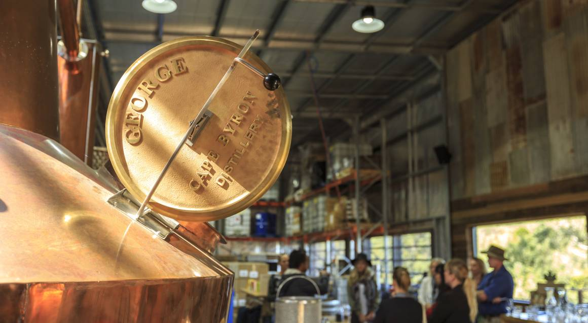 inside cape byron distillery