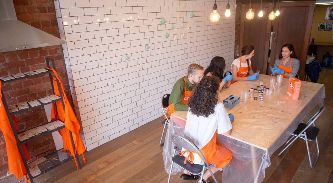 Candu creative group making resin homeware stools