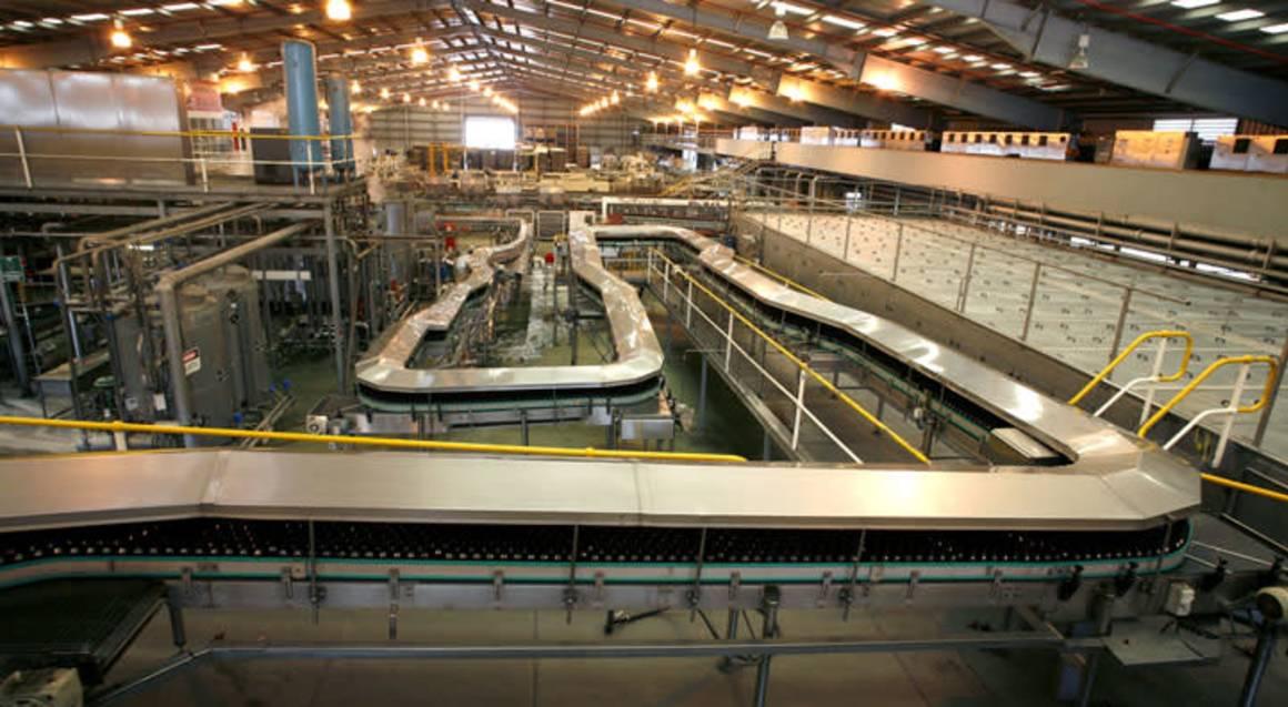 carlton brewhouse bottling plant