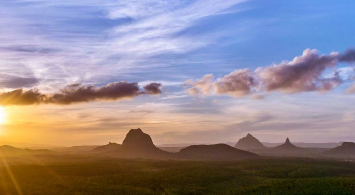 Glasshouse Mountains Helicopter Flight - 30 Minutes - For 2
