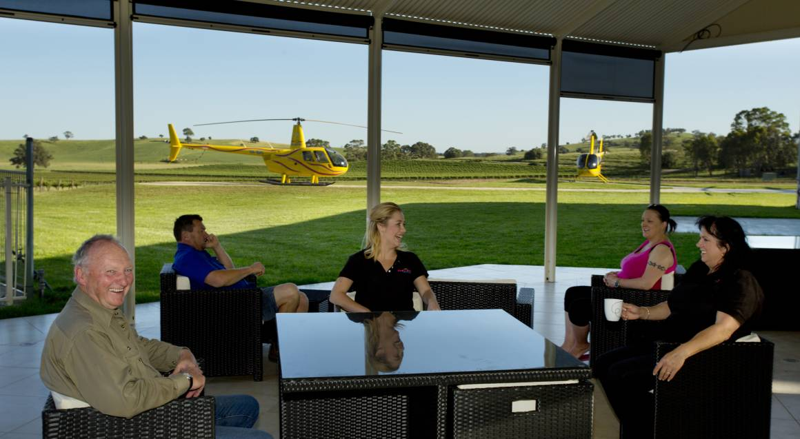 Private Barossa Helicopter Flight with Breakfast and Bubbly