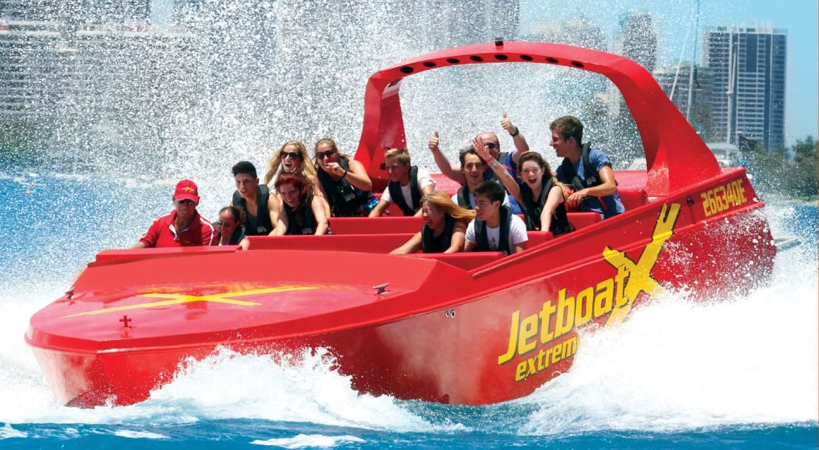 people on jet boat ride surfers paradise gold coast