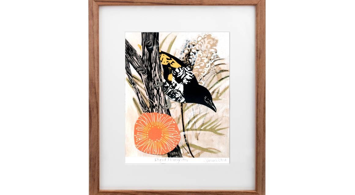 Framed Art Print - Honeyeater Bird