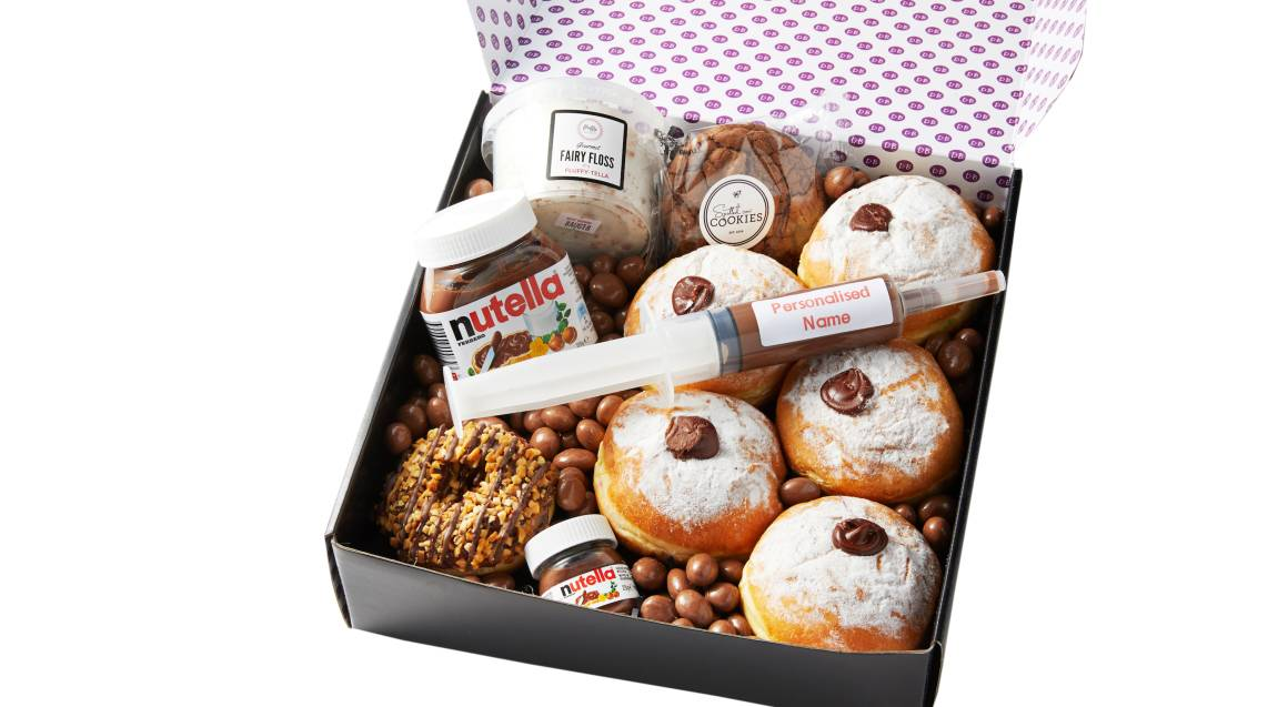 Nutella Donut Box with Personalised Nutella Syringe