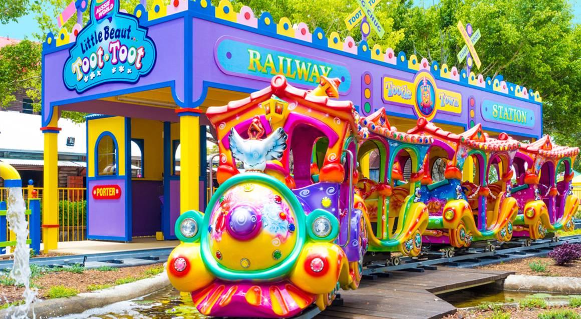 Aussie World child train ride