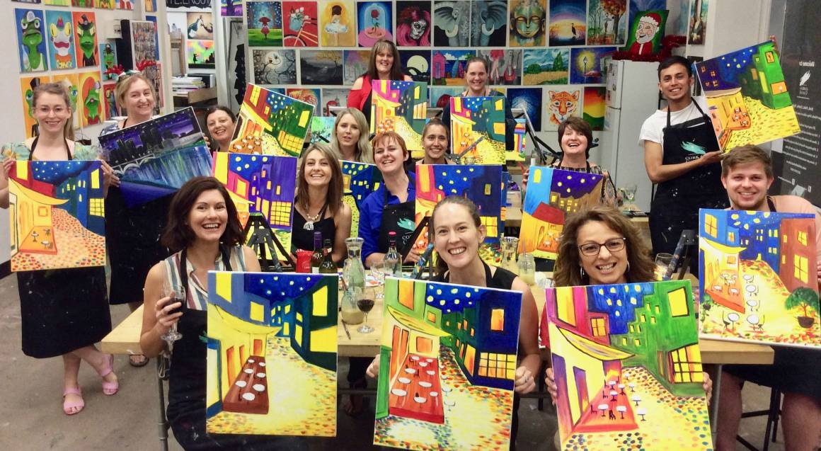 3 Hour Paint and Sip Class - Weekend - For 2
