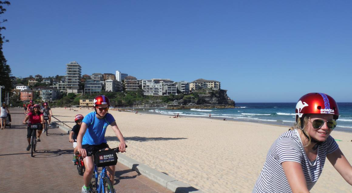 Manly Beach Sunset Bike Tour with Ferry Ride