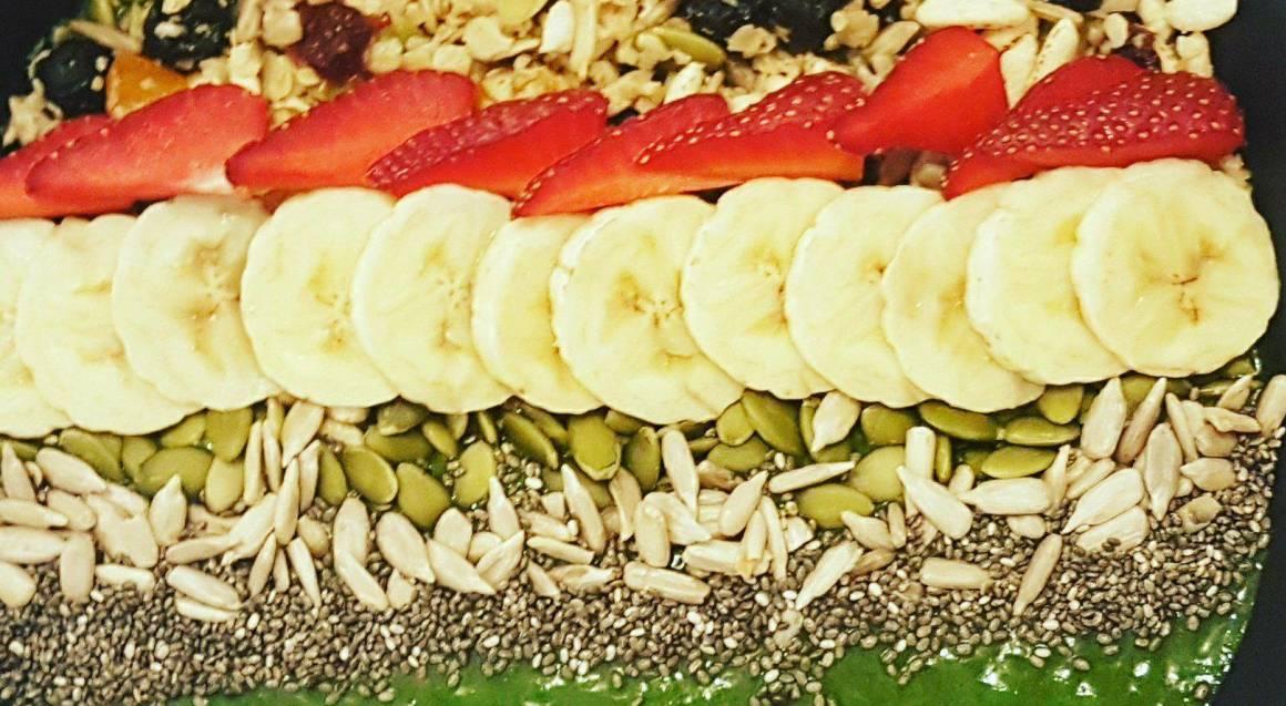 Euphoria Cafe and Wellness Centre green smoothie bowl