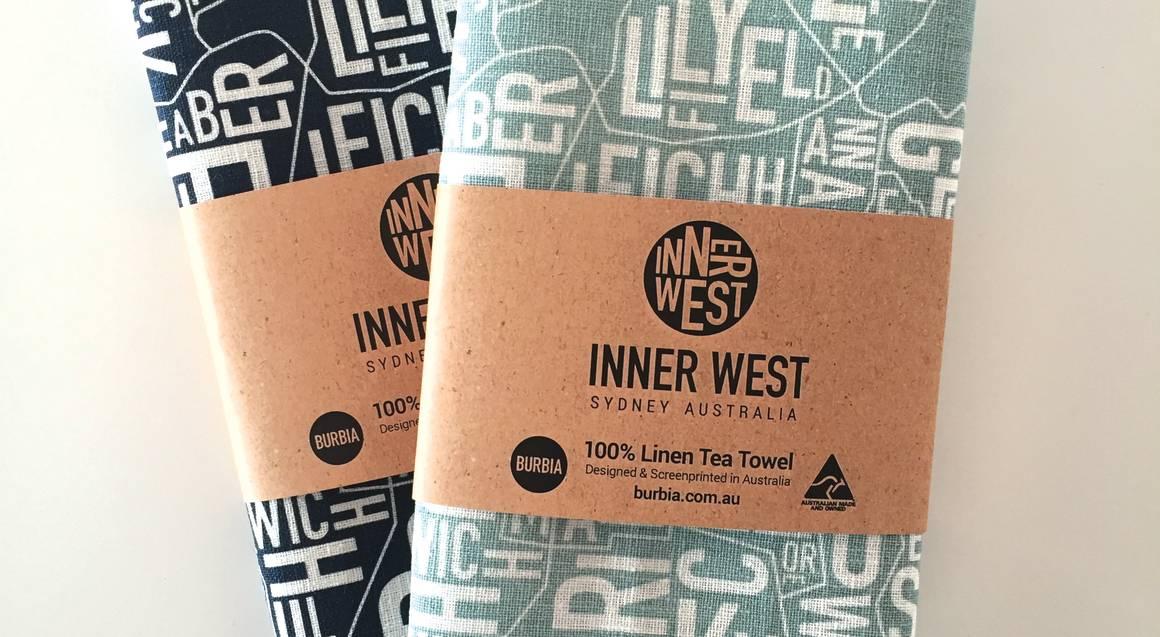 Inner West of Sydney Map Tea Towels - 2 Pack
