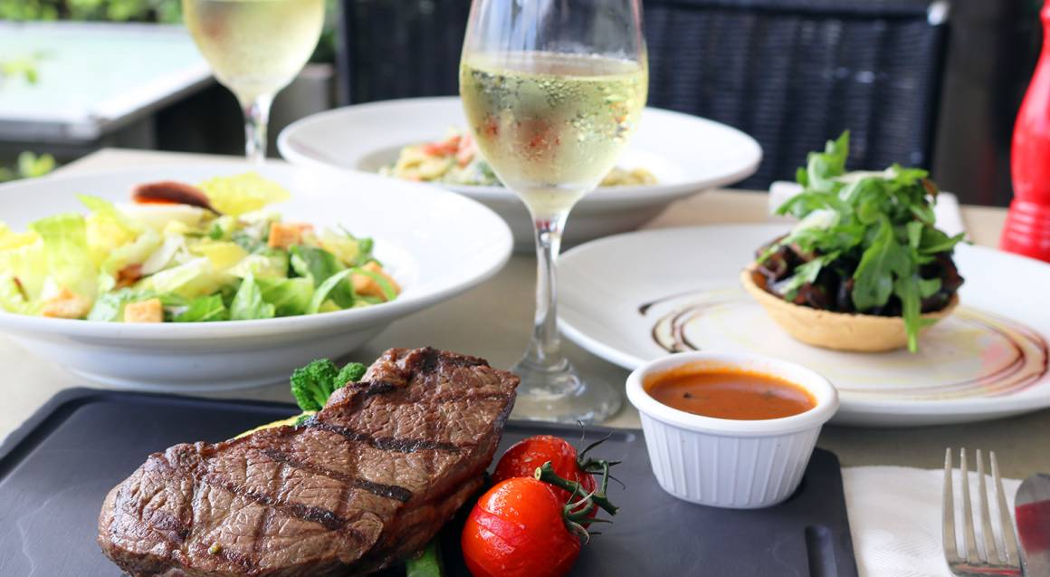 Waterfront 2 Course Lunch or Dinner With Wine - For 2