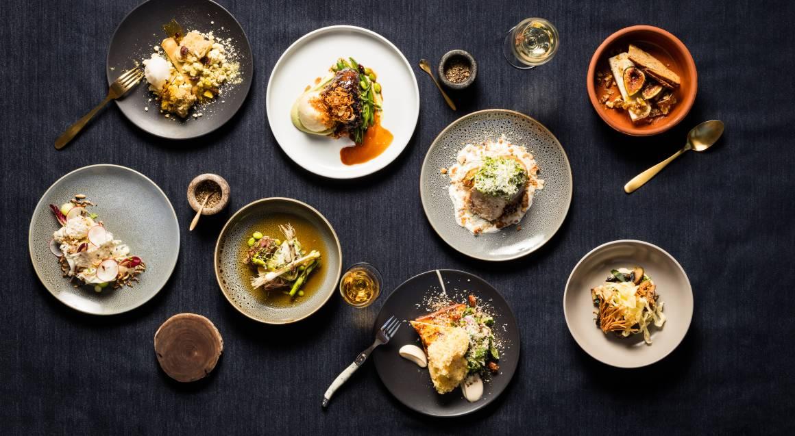 tasting plates for degustation menu at d'arenberg winery
