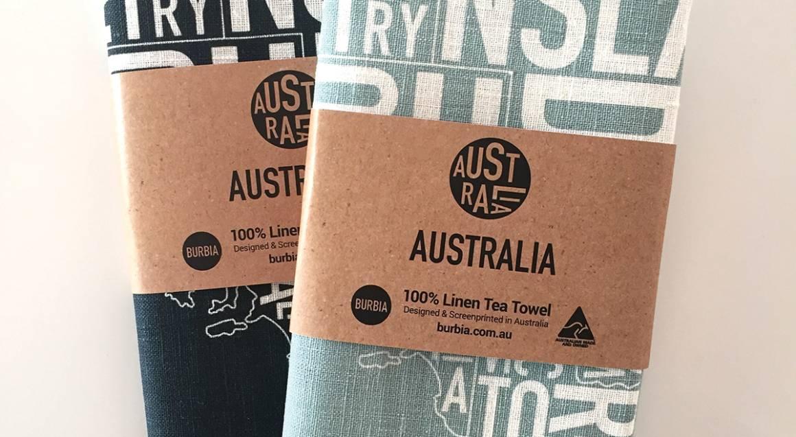 Australia Map Tea Towels - 2 Pack