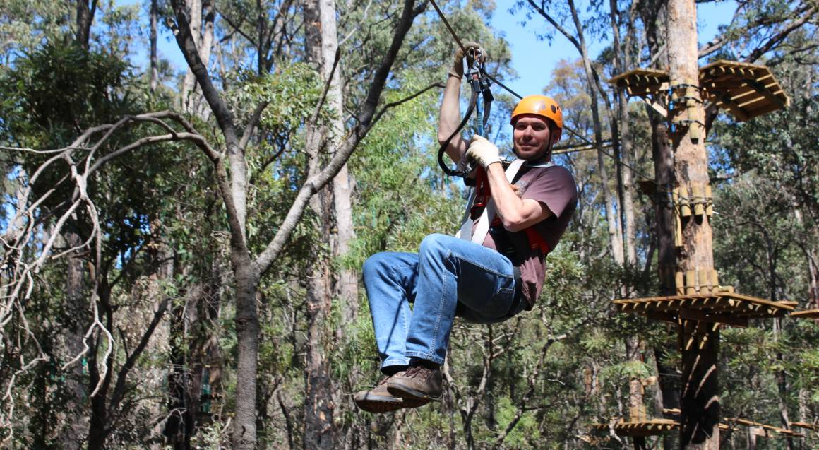 Treetop Ropes Course with Ziplining