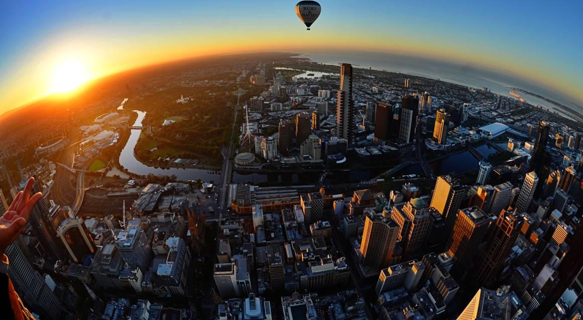 Hot Air Balloon Flight Over Melbourne