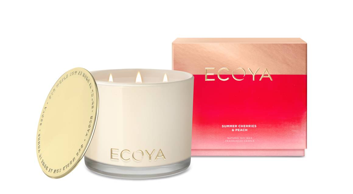 Ecoya Natural Soy Wax Candle - Summer Cherries and Peach