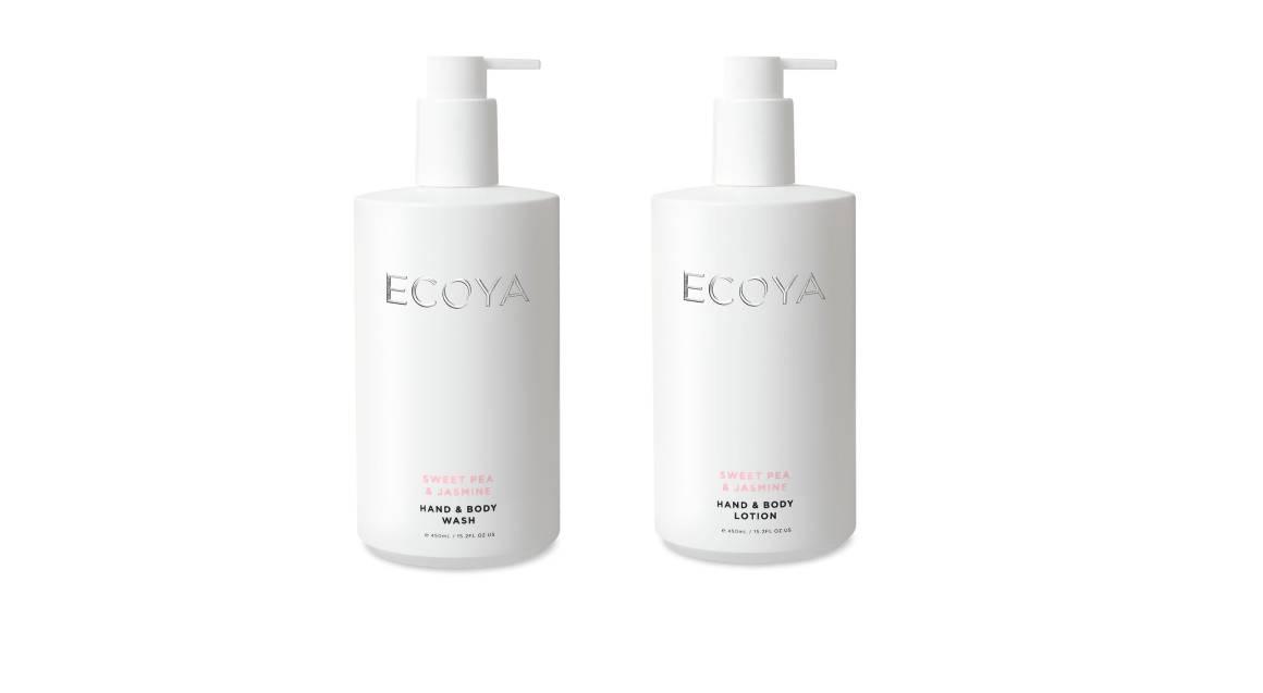 Ecoya Body Wash and Body Lotion Duo - Sweet Pea & Jasmine