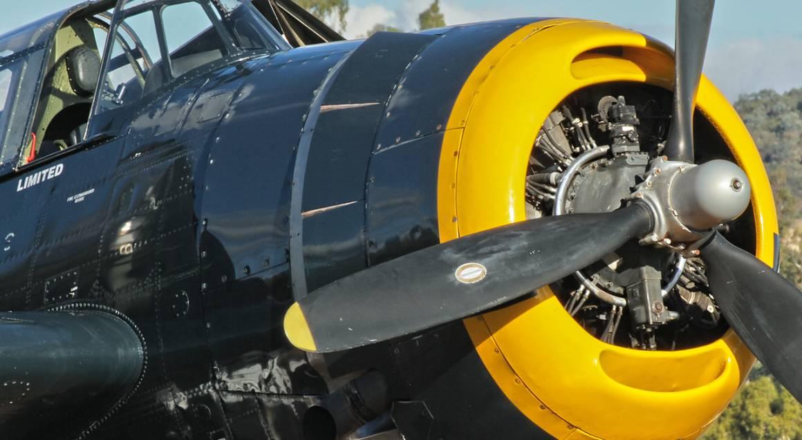 WWII Bomber plane TBM-3 Grumman Avenger