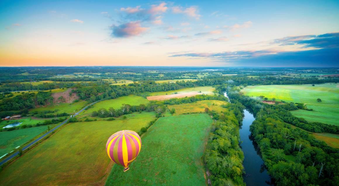 Hot Air Ballooning Over Sydney Macarthur Region