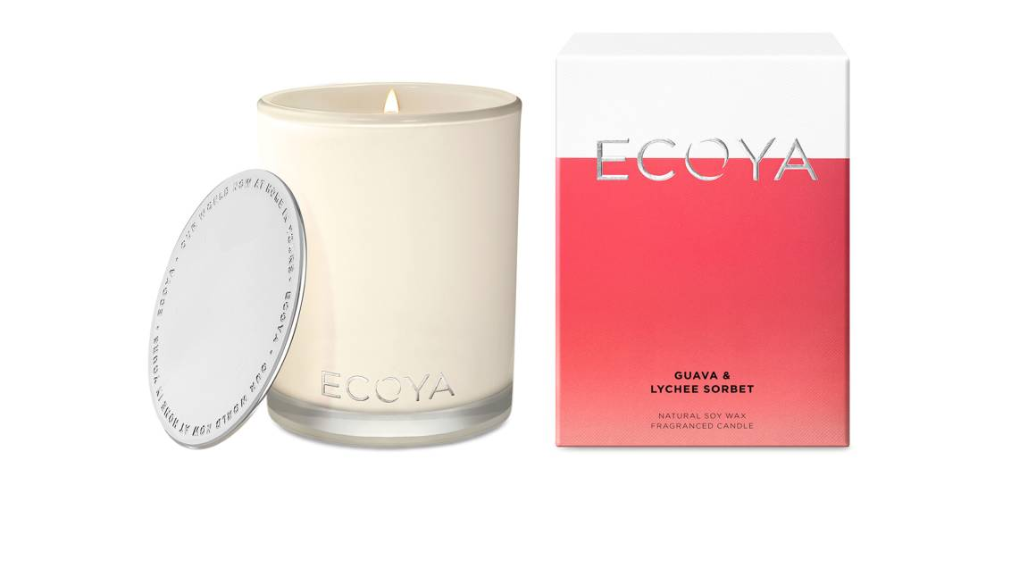Ecoya Madison Natural Soy Wax Candle - Guava & Lychee Sorbet