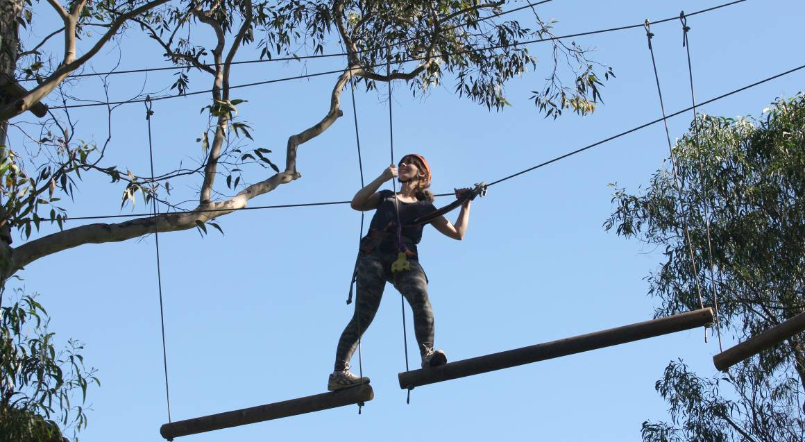 High Ropes Climbing Course with Flying Foxes - West Sydney