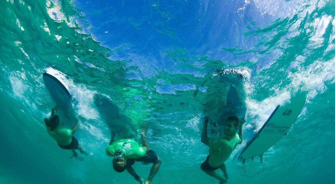 Beginners Group Surfing Lesson at Bondi Beach