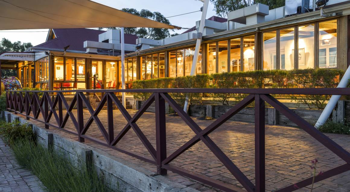 outside view of hardy's verandah at d'arenberg winery