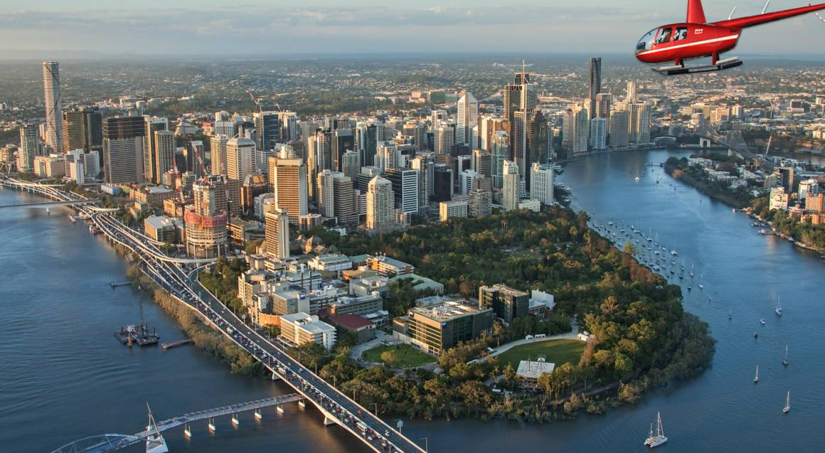 Scenic Helicopter Flight Over Brisbane- Front Seat Guarantee