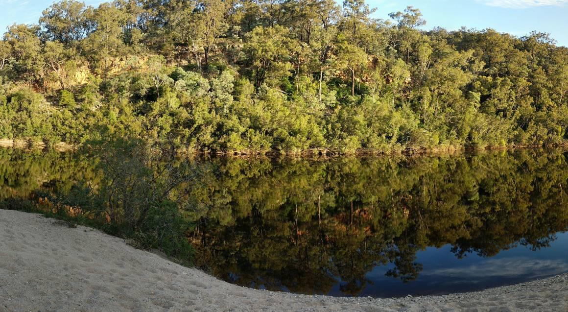 upper shoalhaven river with bushland