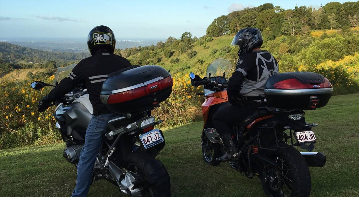 Sunshine Coast BMW Motorcycle Hire country view queensland