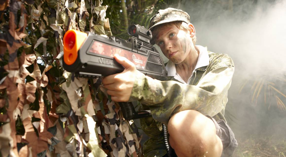 Laser Skirmish in the Forest - For 2