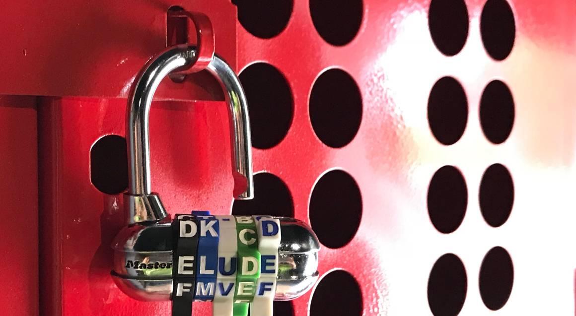 Elude Escape Rooms padlock door