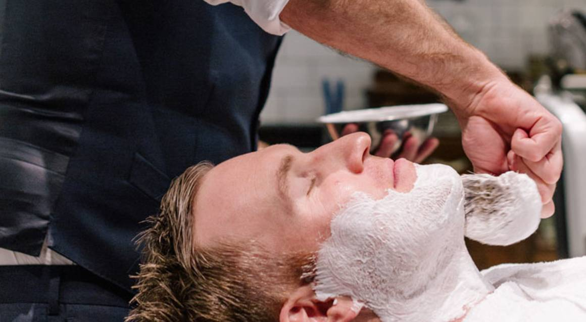 Men's Barber Shop Haircut, Shave and Whisky