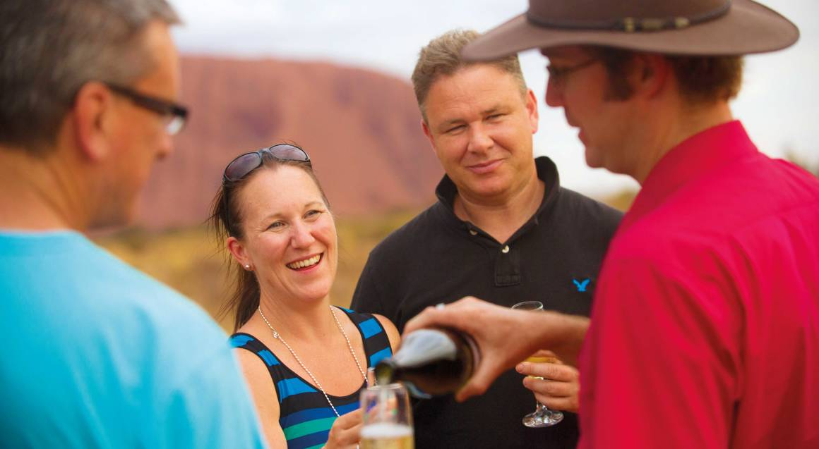 Sunset Uluru Cultural Tour with Wine and Snacks
