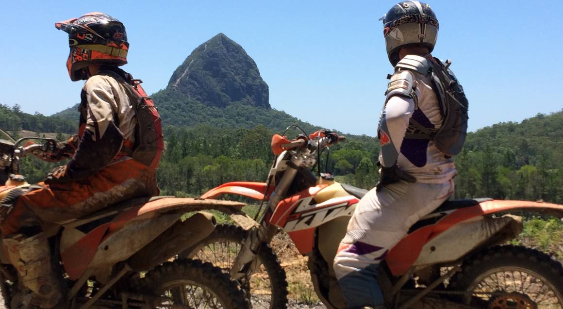 Glasshouse Mountains Guided Trail Bike Tour - 1 Day