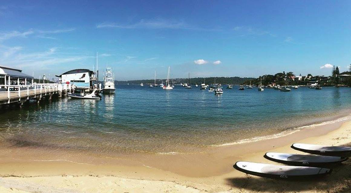 watsons bay beach and view of sydney harbour